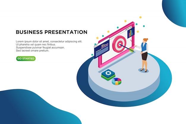 Zakelijke presentatie isometrisch