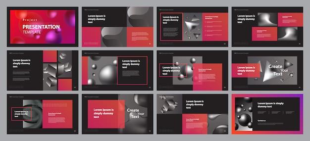 Zakelijke presentatie lay-out ontwerpsjabloon