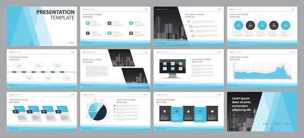 Zakelijke presentatie lay-out sjabloon ontwerpconcept