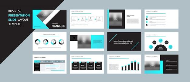 Zakelijke presentatie ontwerpsjabloon concept met infographic elementen