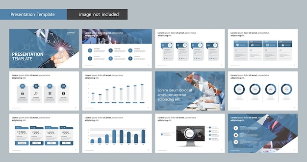 Zakelijke presentatie ontwerpsjabloon