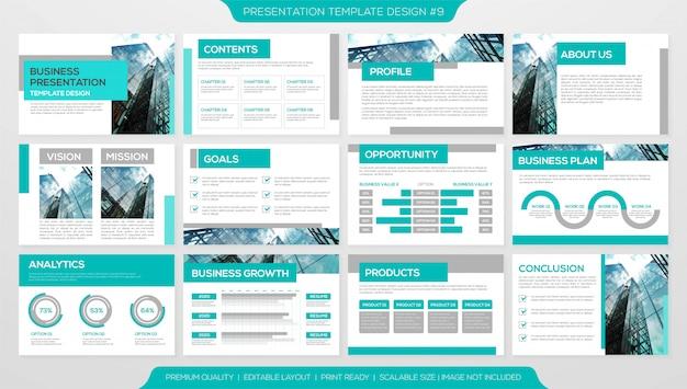 Zakelijke presentatie premium sjabloon