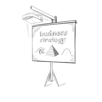 Zakelijke presentatie schets sjabloon