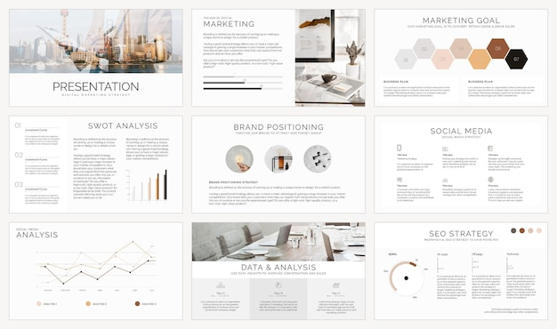 Zakelijke presentatie sjabloon vector set