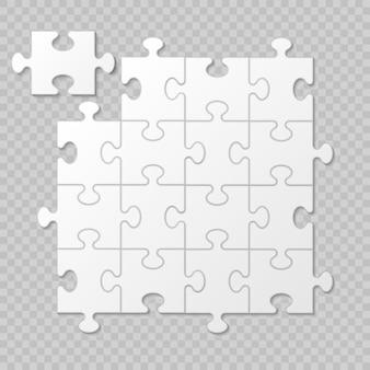 Zakelijke presentatie van puzzelstukjes