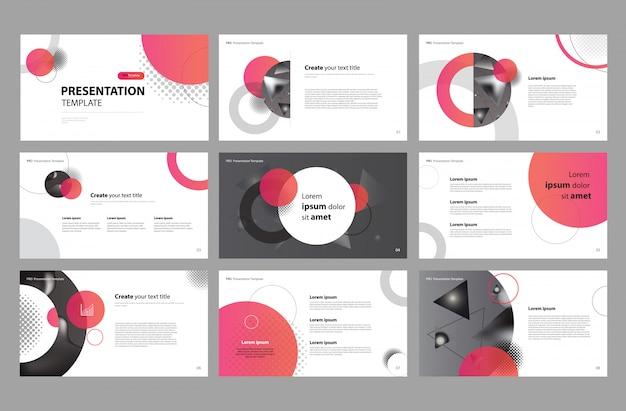Zakelijke presentatieontwerp en brochure-indeling