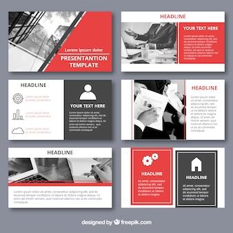 Zakelijke presentatiesjabloon met foto