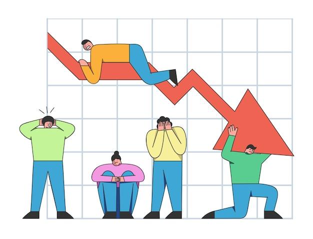 Zakelijke prestatie en faillissement concept