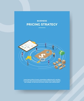 Zakelijke prijsstrategie folder sjabloon