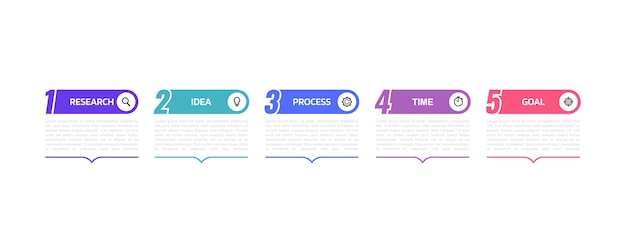 Zakelijke proces infographic sjabloon met opties of stappen. afbeelding afbeelding.
