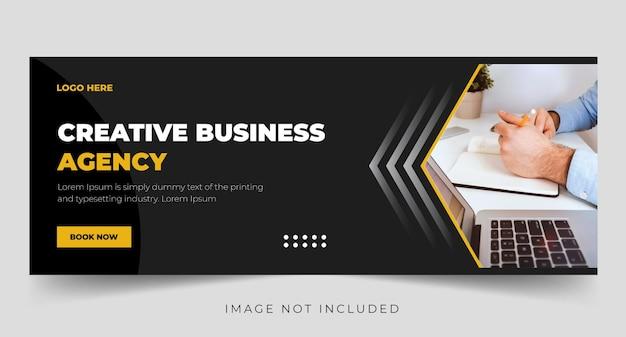 Zakelijke promotie en creatief bedrijfsbureau facebook voorbladsjabloon premium vector