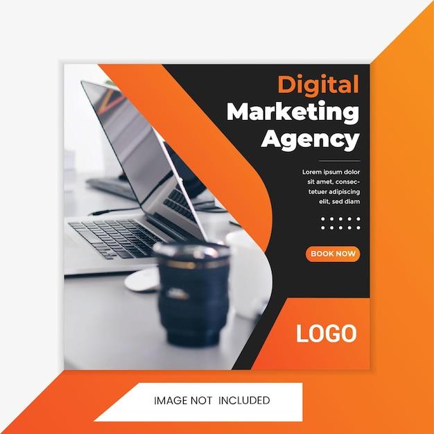 Zakelijke promotie en creatief marketingbureau social media post bannersjabloon