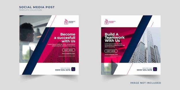 Zakelijke promotie en zakelijke sociale media post-sjablooncollectie