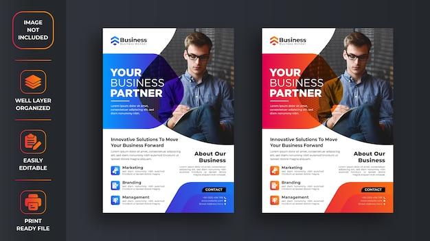 Zakelijke promotionele flyer ontwerpen