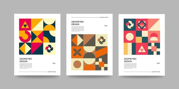 Zakelijke retro geometrische dekking