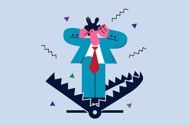 Zakelijke risico's en angsten illustratie