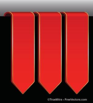 Zakelijke rode pijlen vector