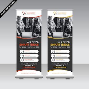 Zakelijke roll-up banner sjabloon premium vector