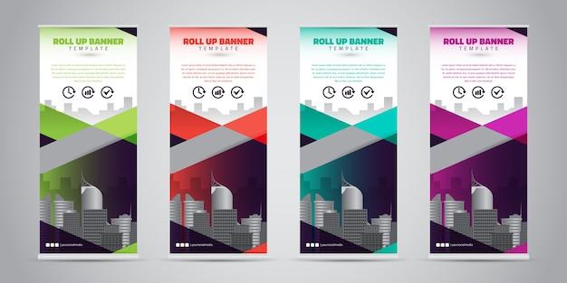 Zakelijke roll-up banner. standee ontwerp