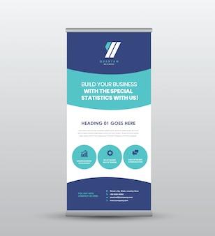 Zakelijke roll-up staande banner & poster design