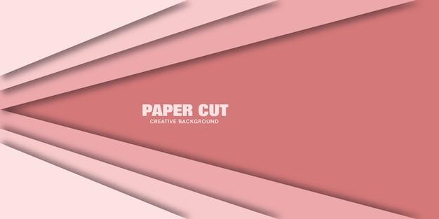 Zakelijke roze papercut. vectorillustratie voor het web.