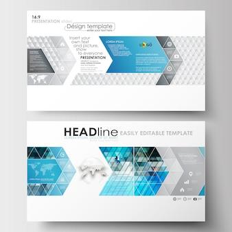 Zakelijke sjablonen in HD-formaat voor presentatiedia's.