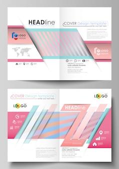 Zakelijke sjablonen voor bi-fold brochure