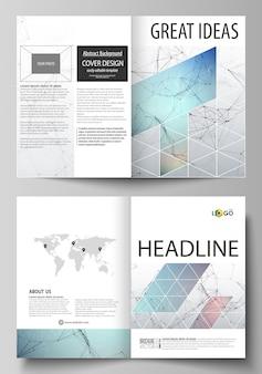 Zakelijke sjablonen voor bi-voudige brochure, flyer.