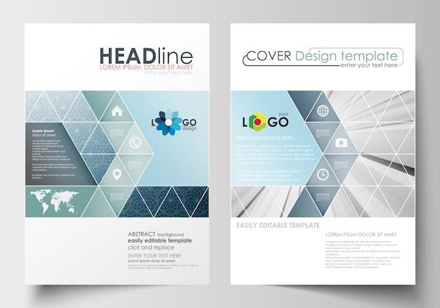 Zakelijke sjablonen voor brochure, flyer, rapport.