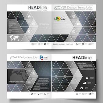 Zakelijke sjablonen voor brochure in bi-fold gevouwen vierkant