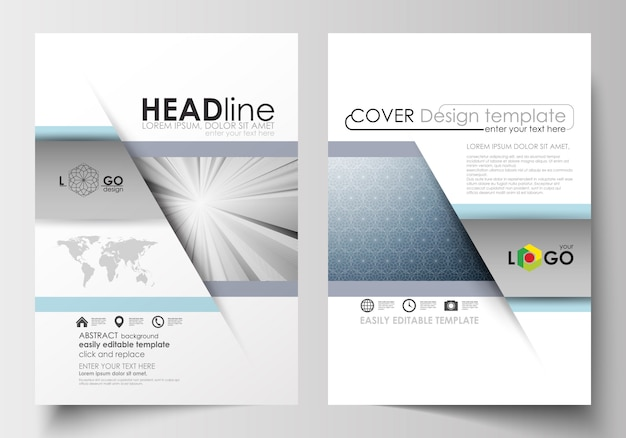 Zakelijke sjablonen voor brochure, tijdschrift, flyer, boekje.