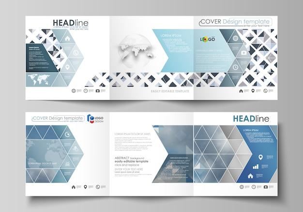 Zakelijke sjablonen voor drievoudige vierkante brochures