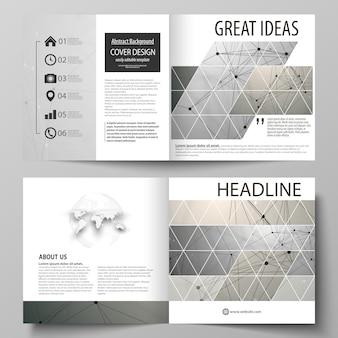 Zakelijke sjablonen voor vierkante bi-voudige brochure