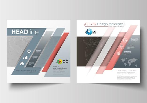 Zakelijke sjablonen voor vierkante ontwerp brochure, flyer.
