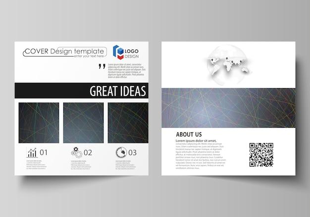 Zakelijke sjablonen voor vierkante ontwerp brochure
