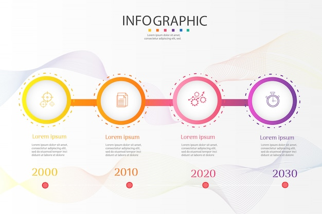 Zakelijke sjabloon 4 opties infographic grafiekelementen