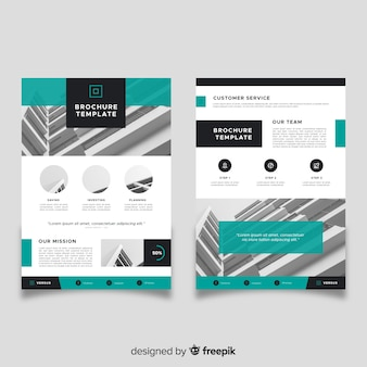 Zakelijke sjabloon folder in abstracte stijl