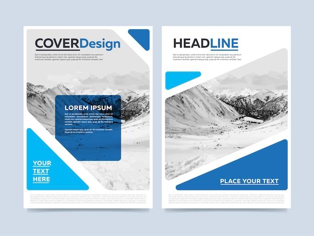 Zakelijke sjabloon folder in modern blauw en wit ontwerp voor het bedrijfsleven en agentschappen
