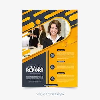 Zakelijke sjabloon folder met foto