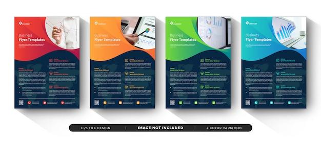 Zakelijke sjabloon folder set