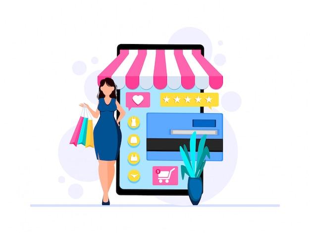 Zakelijke sjabloon met online winkel