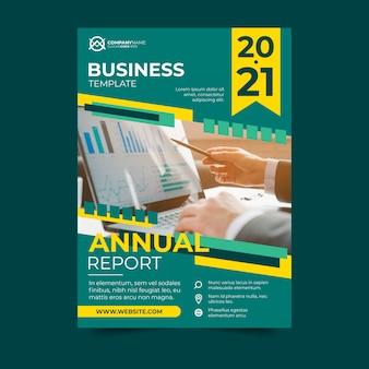 Zakelijke sjabloon ontwerp jaarverslag