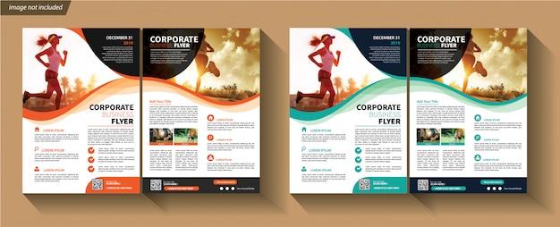 Zakelijke sjabloon voor flyer corporate