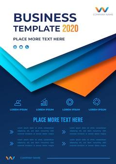 Zakelijke sjabloonontwerp 2020