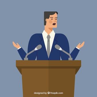Zakelijke spreker karakter