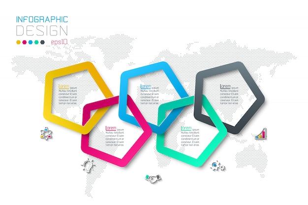 Zakelijke stap opties en abstracte infographic