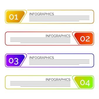 Zakelijke stappen infographic vectorillustratie
