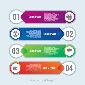 Zakelijke stappen infographic