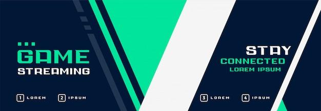 Zakelijke stijl geometrische banner