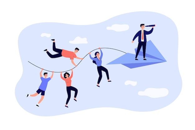 Zakelijke team en teamwerk metafoor